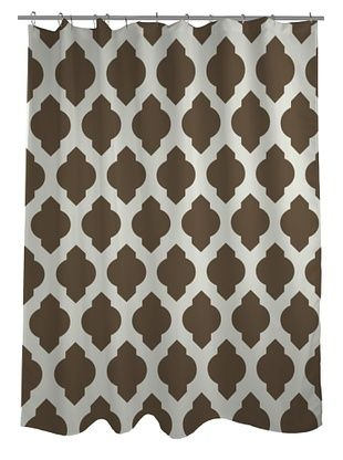 39% OFF One Bella Casa All Over Moroccan Shower Curtain, Coffee