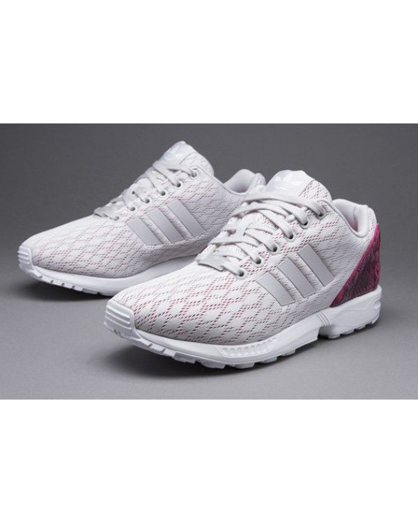 Best Adidas ZX Flux Womens Shoes White Red Hot Sale £54.80