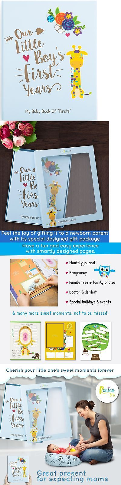 Keepsakes and Baby Announcements 117388: Ronica Memory Book For Baby Boy, Photo Album, Easy To Use Keepsake Scrapbook,... -> BUY IT NOW ONLY: $40.98 on eBay!