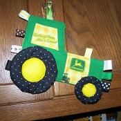 Green Tractor pdf with John Deere fabric - via @Craftsy
