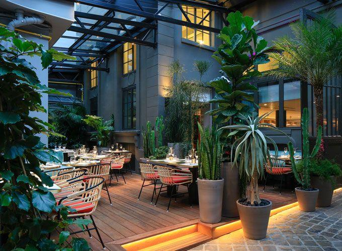 restaurant de paris avec jardin