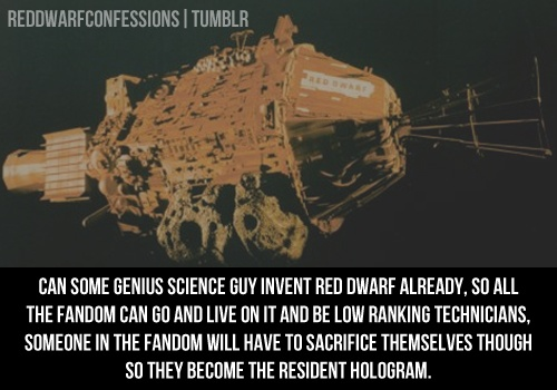 Red Dwarf Confessions