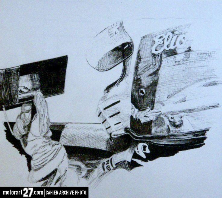 Elio de Angelis cockpit shot.  www.motorart27.com  #artistcommunity #successartist #growyouraudience #artempire #ink #inkillustration #illustration #racingart #motorsportart #f1art #FormulaOneart #Formula1Art #EliodeAngelis #Lotus #LotusF1 #racing #FormulaOne #Formula1 #racingart #CarsDesign #GillesVilleneuve #RacingPaintings #Posts #MotorsRacing #F1Artworks