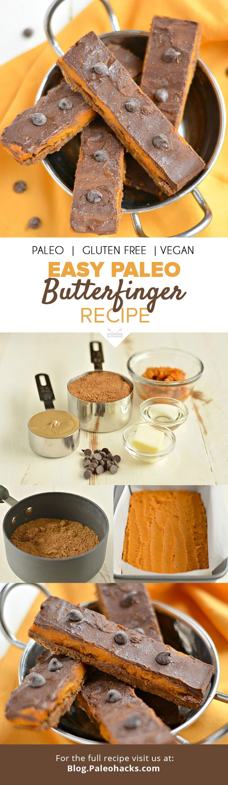 These sweet, buttery Paleo Butterfingers are made with just 7 ingredients and a surprise inside! A bite-sized treat reminiscent of your favorite candy bar that's gluten-, grain-, dairy- and refined sugar-free. Get the full recipe here: http://paleo.co/paleobutterfingers