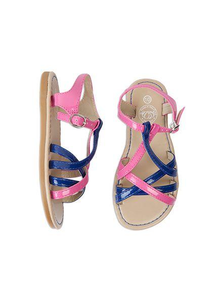 Pumpkin Patch - footwear - colourful strappy sandal - S4FW30047 - azalea pink - 1 to 13