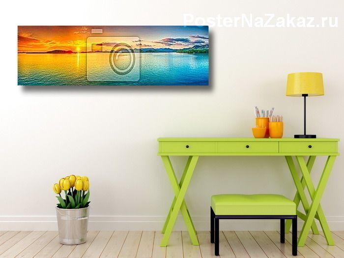 Постер Панорама заката