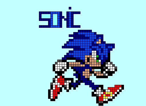 pixel art sonic