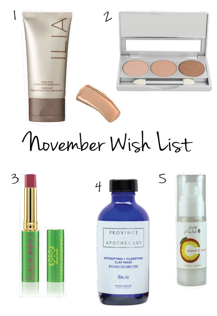 Who said wish lists were only for Christmas? We collected some of our top beauty must-have's for this season and bonus: they're all natural products! 1. Ilia Beauty: Just because winter is he...