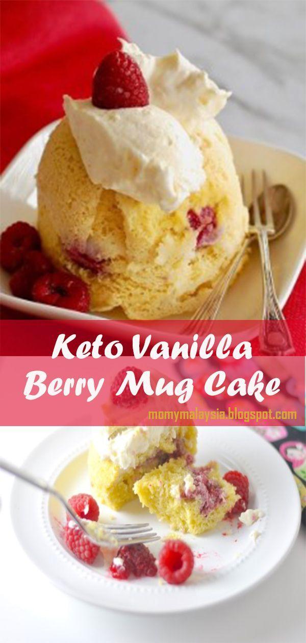 KETO VANILLA BERRY MUG CAKE #shakeomugcake, 2020
