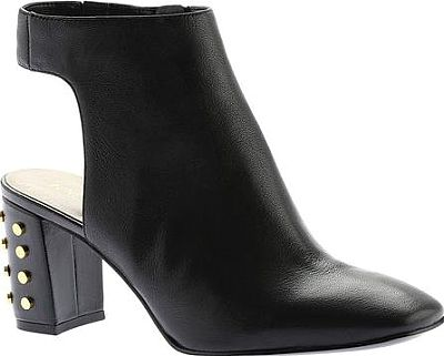 Nine West Shoes - Turn heads in the Xtravert Bootie by Nine West. This alluring heeled bootie features an eye catching stud accented chunky heel and a side zipper makes on/off a breeze! - #ninewestshoes #blackshoes