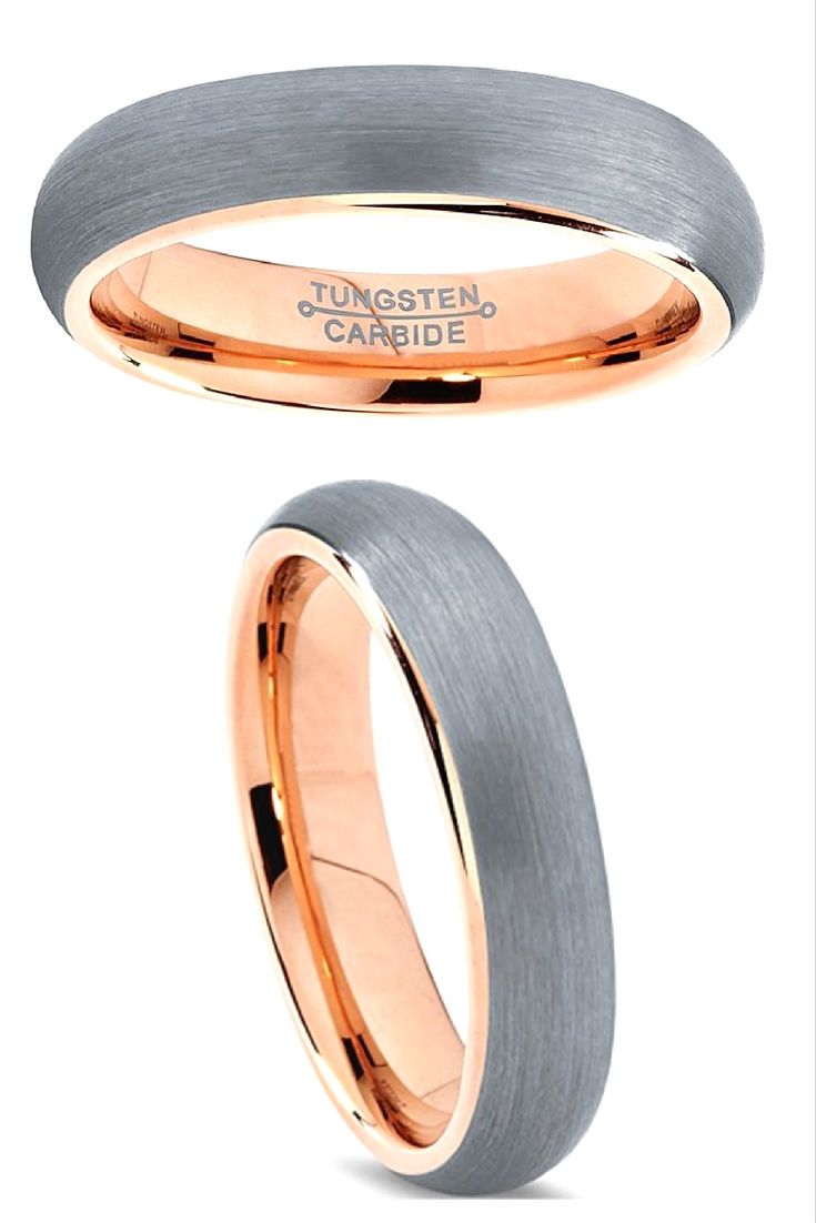 Rose gold wedding inspiration onewed rose gold ruffly wedding chair - 6mm 18k Rose Gold Tungsten Carbide Wedding Band Finished With A Brushed Top I Love