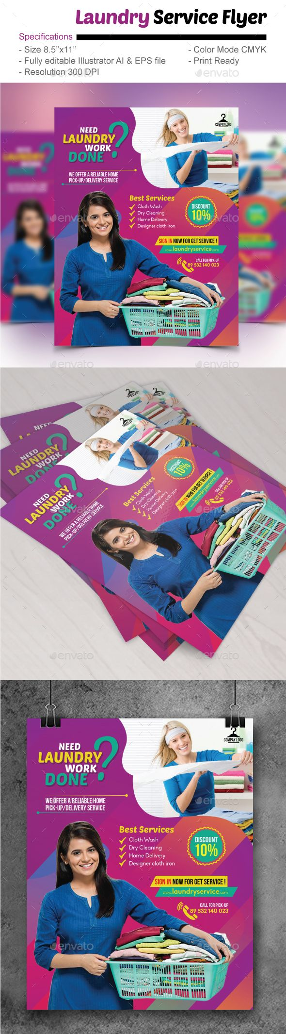 25 best laundry flyer images on pinterest laundry service font laundry service flyer by designstation laundry service flyer editable specifications size pronofoot35fo Image collections