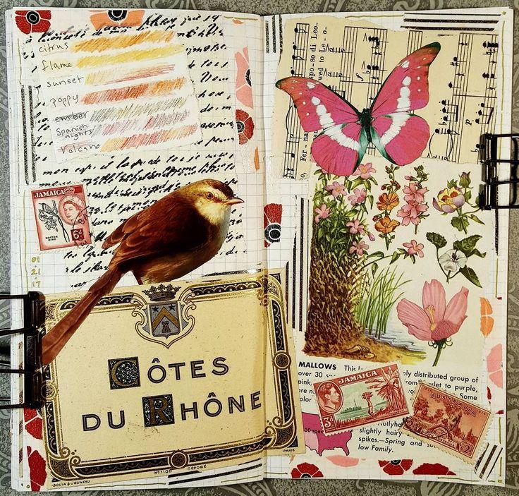 #constancerosedesigns #collage #collagejourney #collageartist #artjournal #mtn #midoritravelersnotebook #vintagepaper