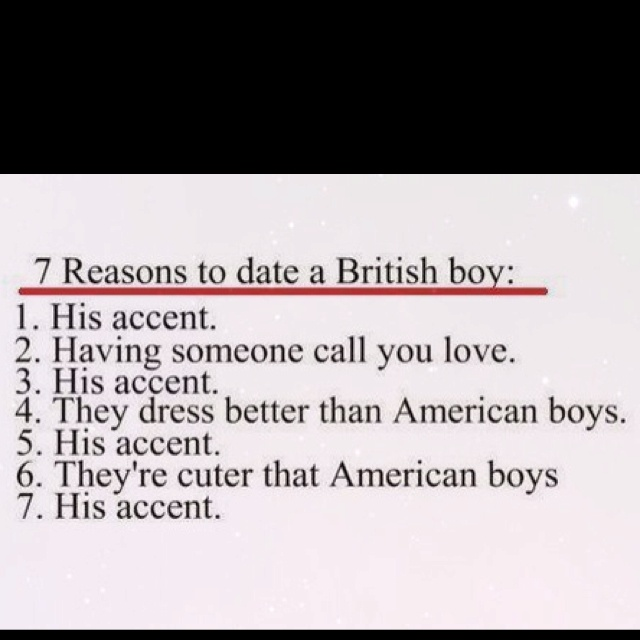 Sara: funny timing since you mentioned your love for British accents yesterday! LOL!