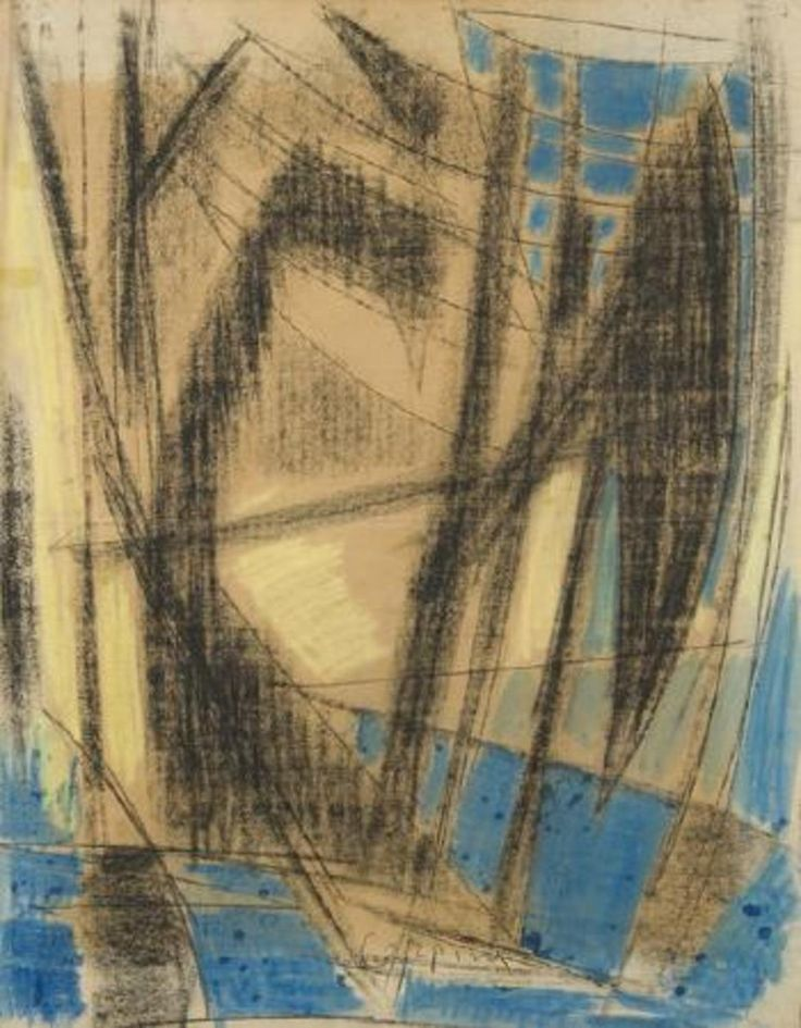 Composition with Sails  by Antonio Corpora   1960   Tachisme