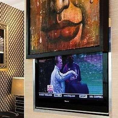 TV Behind Art                                                                                                                                                                                 More