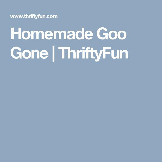 Homemade Goo Gone | ThriftyFun