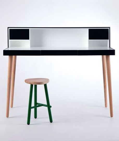 Un bureau classe en noir et blanc - Bureau de style - CôtéMaison.fr