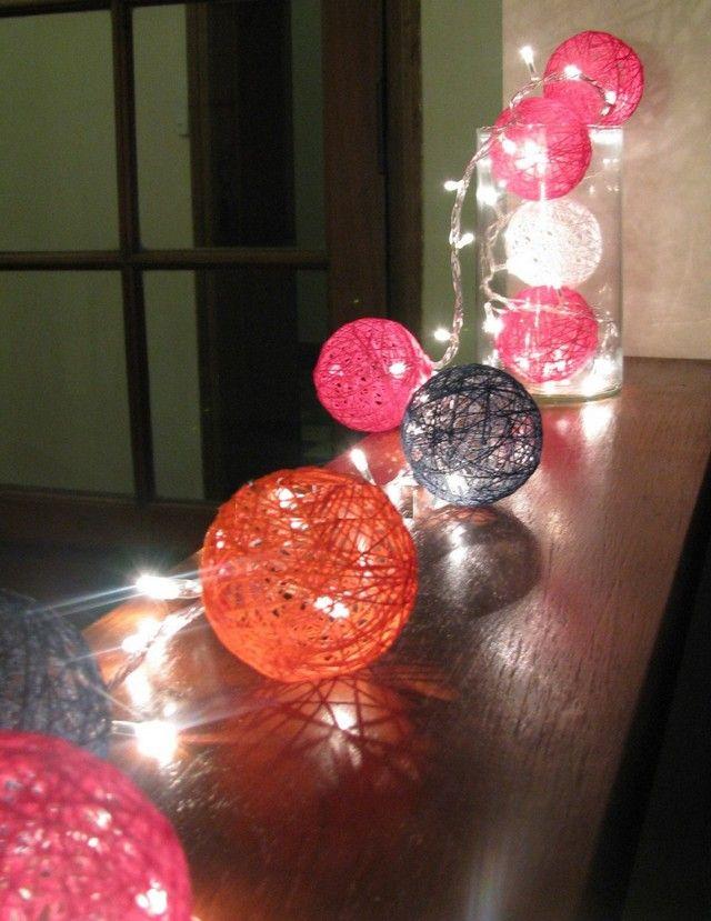 Como hacer guirnaldas de lamparas para decorar 4