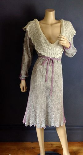 MARY FARRIN VINTAGE CLASSIC KNITTED DRESS UK 14 | eBay