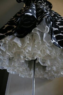 upcycled: From curtain to petticoat...if I can find a ruffled curtain I'm totally making this!