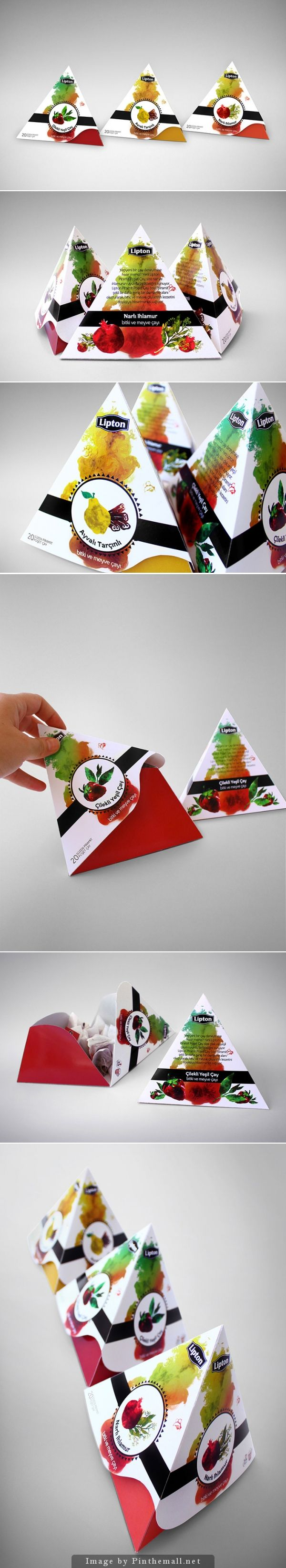 Student concept rebranding Lipton tea #packaging curated by Packaging Diva PD created via http://www.packageinspiration.com/lipton-pyramid-tea-student-work.html/