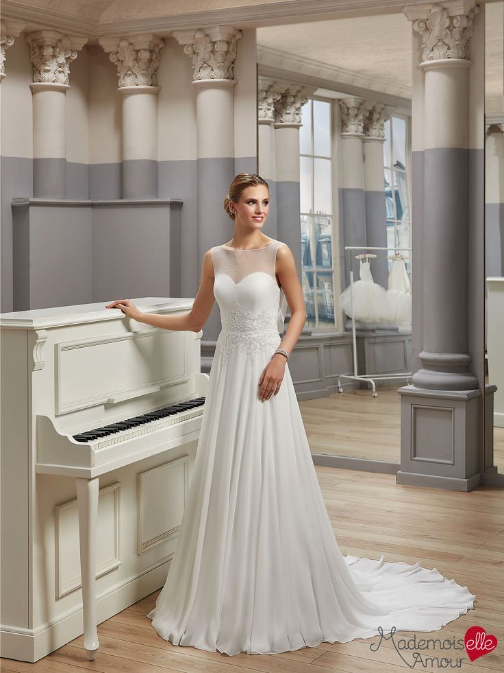 Robe de mariée Mlle Aubadia, robe de mariée bohème chic - Pronuptia