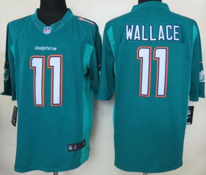 Nike NFL New Logo Miami Dolphins 11 Mike Wallace LIMITED NFL Jerseys 2013 New Style