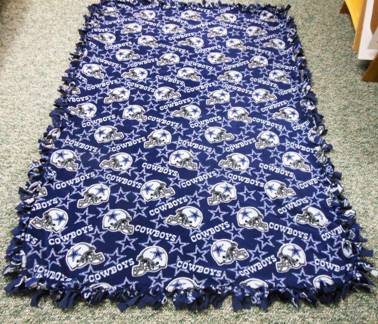 Dallas Cowboys Fleece Blanket-No Sew Fleece Blanket-Large by LisasBounty on Etsy https://www.etsy.com/listing/177047233/dallas-cowboys-fleece-blanket-no-sew