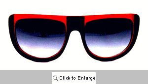 UFO Retro Sport Sunglasses - 128 Black/Red