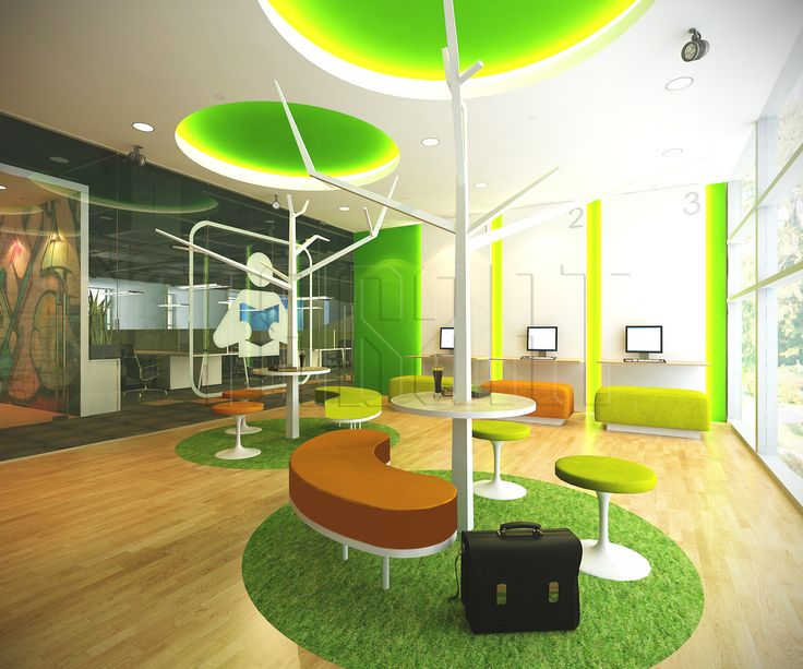 Library area for suitable for discussion. # ...