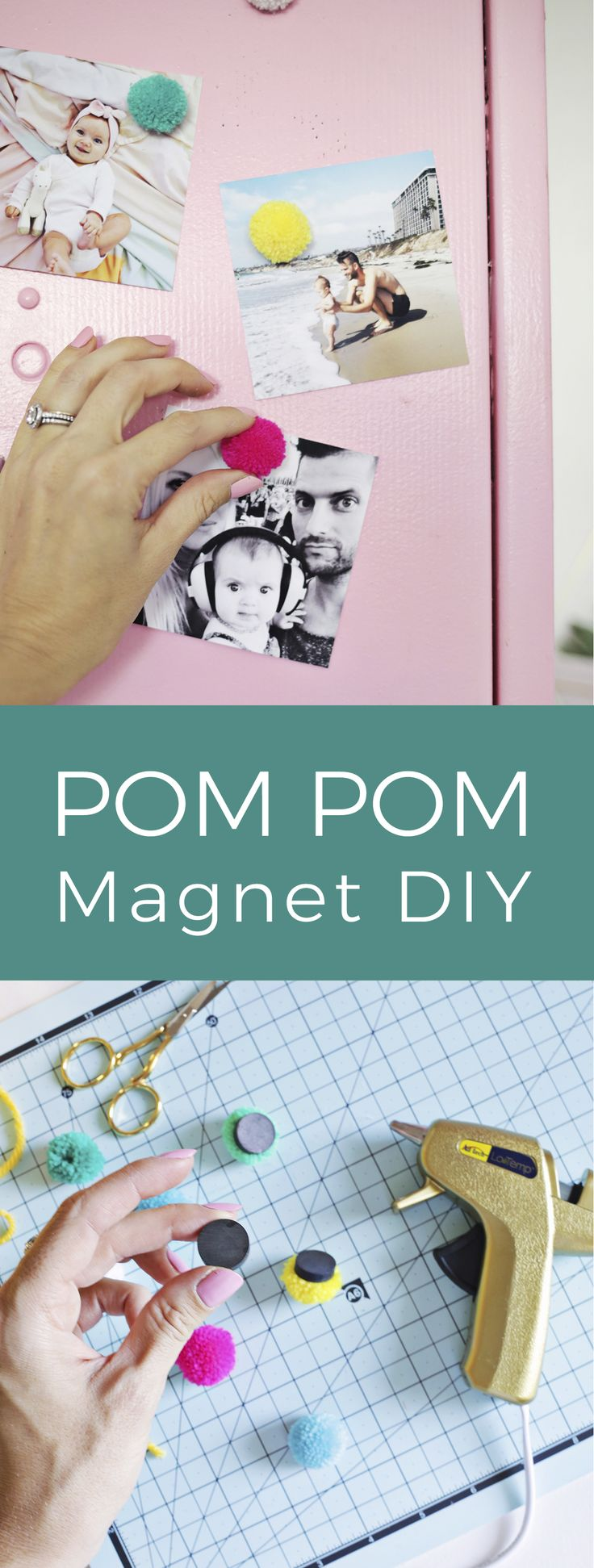 Easy pom pom magnet DIY! Working with @CanonUSA #CraftywithCanon #sponsored