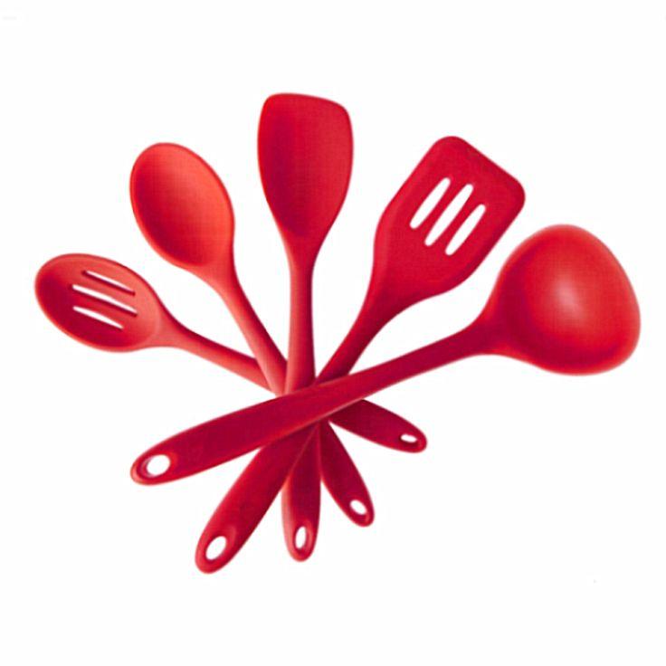 Wholesale 5 piece Kitchen Tools Utensils And Equipment Silicone Kitchen Utensil Set