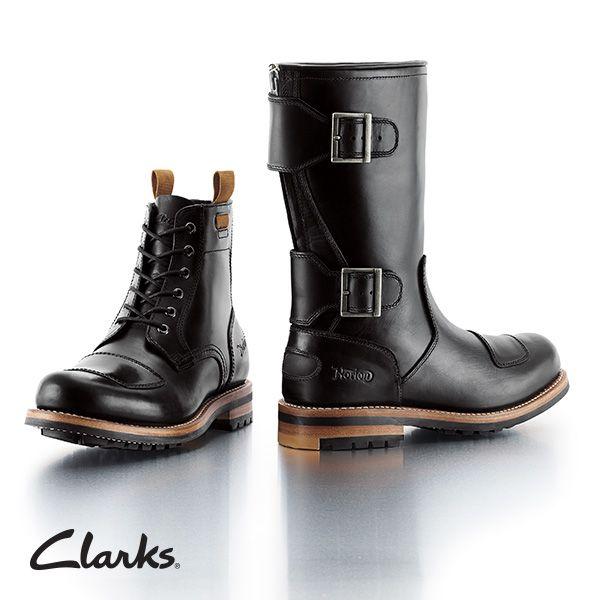 clarks biker boots