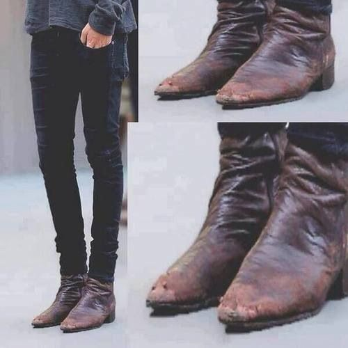 harry styles boots clobber brown boots
