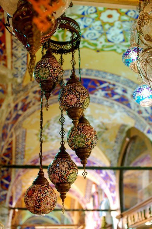 Dreamy cascading Turkish lanterns.