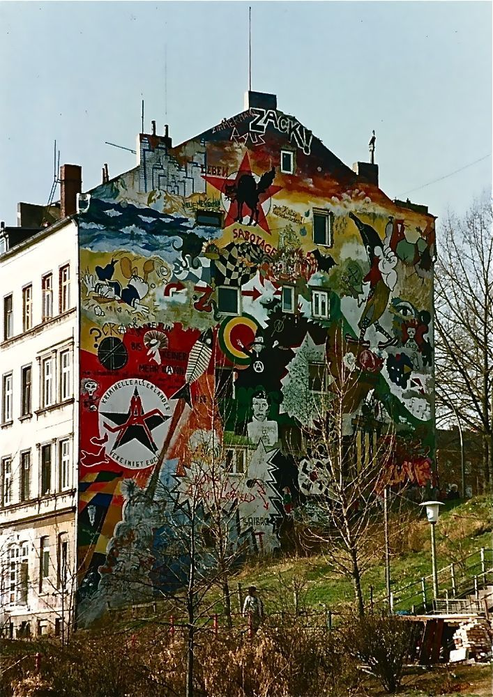 Graffiti Hafenstrasse, Hamburg, Germany