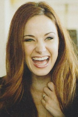 Sierra Boggess - My eyes squint up when I laugh too...only she still looks gorgeous when her's do that...lol