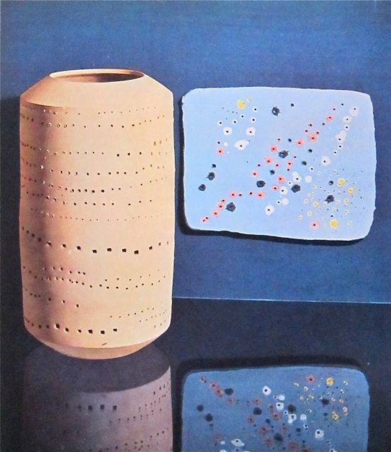 Lucio Fontana  Vase and Plaque  Albisola  Milan
