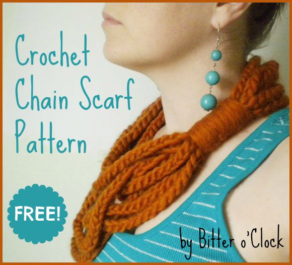16 best Chain Scarf images on Pinterest | Chains, Crochet chain ...