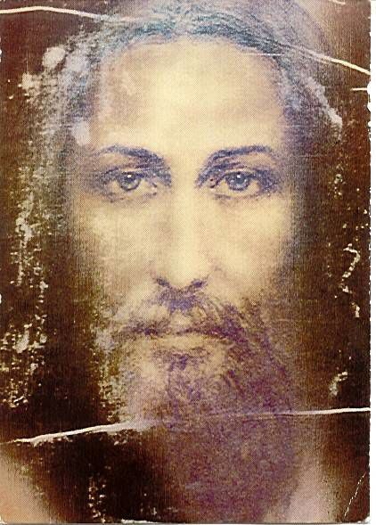 Composición electrónica del ROSTRO DE JESUCRISTO a partir de la santa Síndone de Turín.