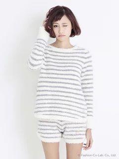 gelato pique(ジェラートピケ) | USAGI ONLINE(ウサギオンライン)|ファッション通販サイト : ルームウェア > moco moco'ジェラート'ボーダープルオーバー