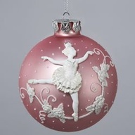 bas relief polymer clay sculpt on Christmas ornament.