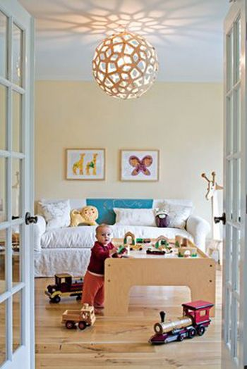 playroomBaby Plays, Play Rooms, Lights Fixtures, Light Fixtures, Training Tables, Kids Room, Plays Spaces, Playrooms, Plays Room