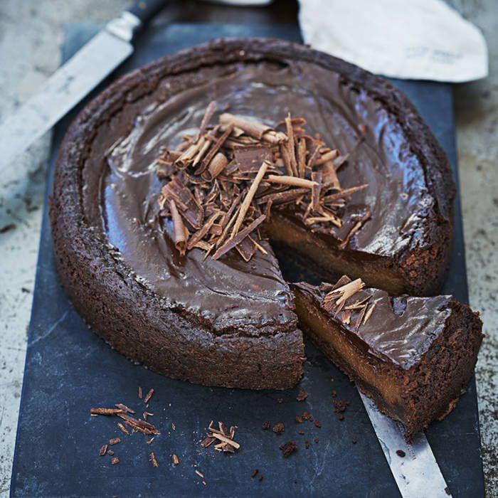 Lyxigt god cheesecake med tryffelglasyr