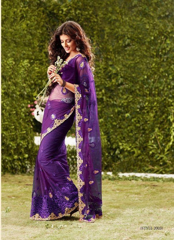 Purple color saree