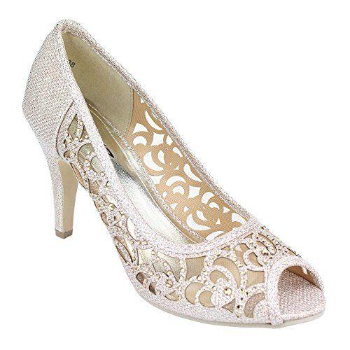 Aarz Frauen-Dame-Abend-Partei-Hochzeit Prom High Heel Peep Toe Diamante-Sandelholz-Schuh-Größe (Gold, Silber, Champagner) - http://on-line-kaufen.de/aarz-london/40-eu-aarz-frauen-dame-abend-party-hochzeit-prom
