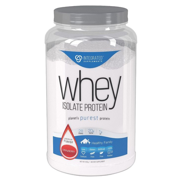 Integrated Supplements Strawberry Whey Isolate Protein Powder - 1.85 lb