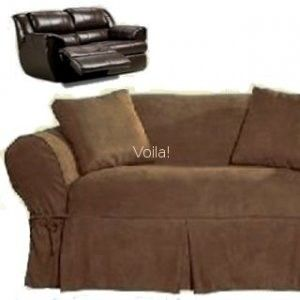 Sure Fit Reclining Sofa Loveseat Slipcover Suede Chocolate Review At Kaboodle Basement