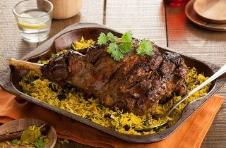 Indian spiced leg of lamb